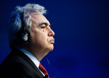 """Fatih Birol, Executive Director, International Energy Agency, Paris speaking during the Session """"A New Era for Energy Politics"""" at the Annual Meeting 2018 of the World Economic Forum in Davos, January 23, 2018.  Copyright by World Economic Forum / Manuel Lopez"""